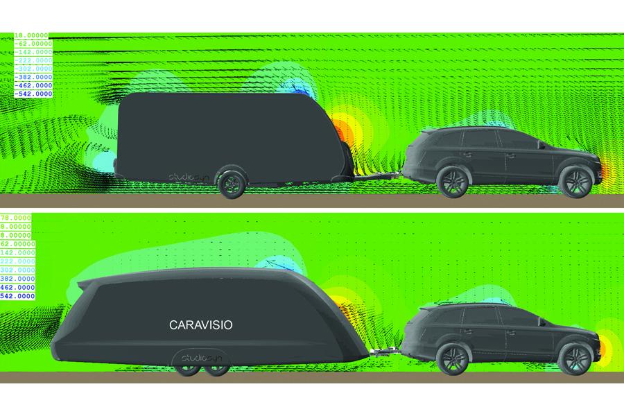 Caravisio-Windkanal