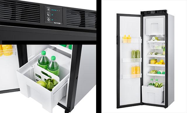 Thetford adds a 152 litre fridge to its slim, compressor
