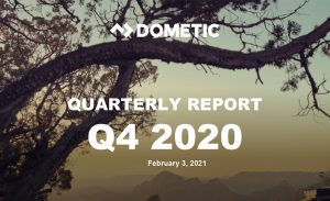 Dometic reports strong growth and margin improvement in fourth quarter 2020